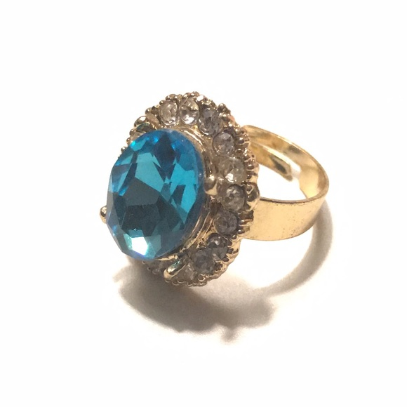 Jewelry - Fashion Ring Topaz Gold Adjustable 7+
